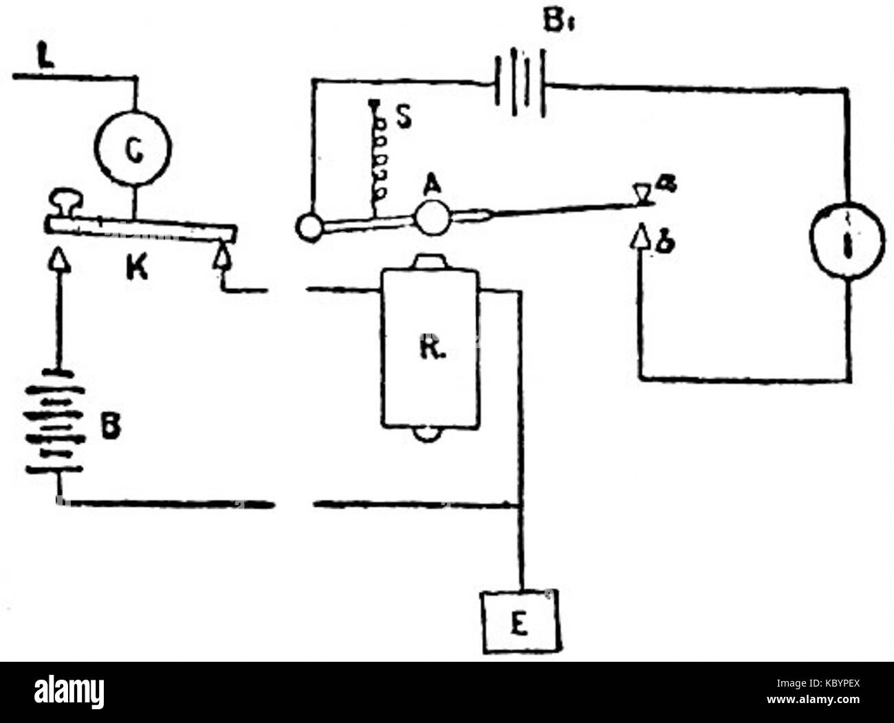 hight resolution of eb1911 telegraph single current relay working
