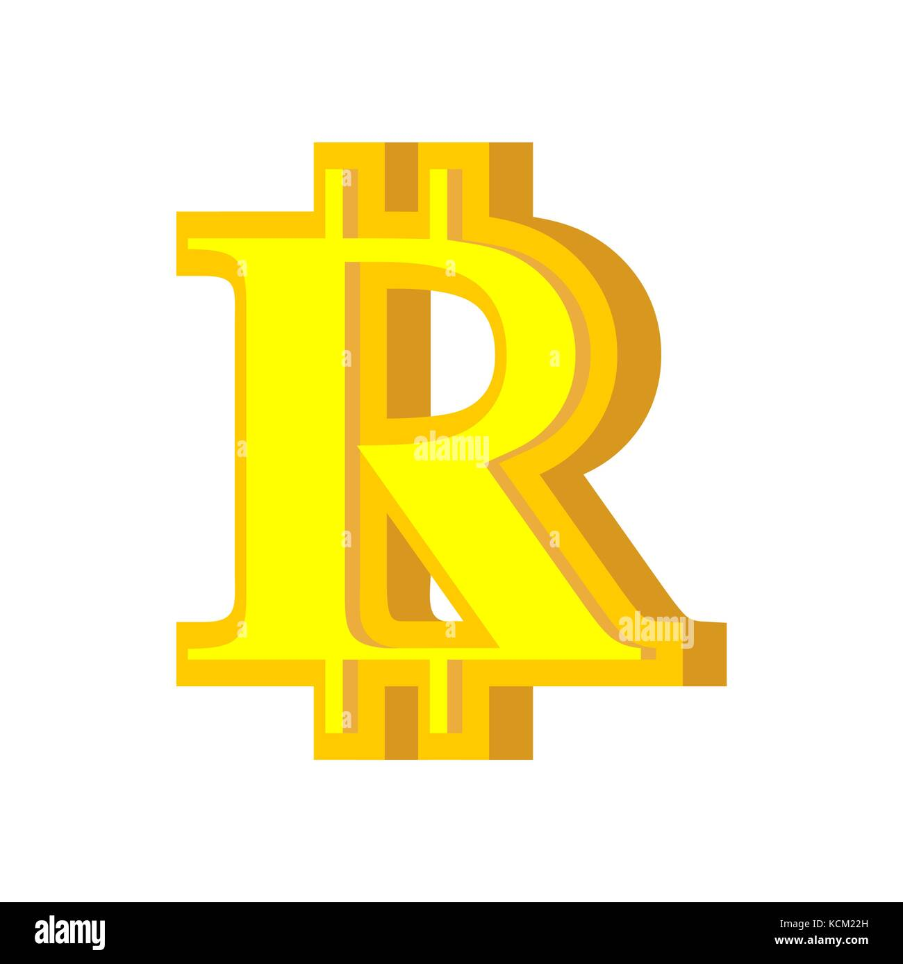 r letter bitcoin font