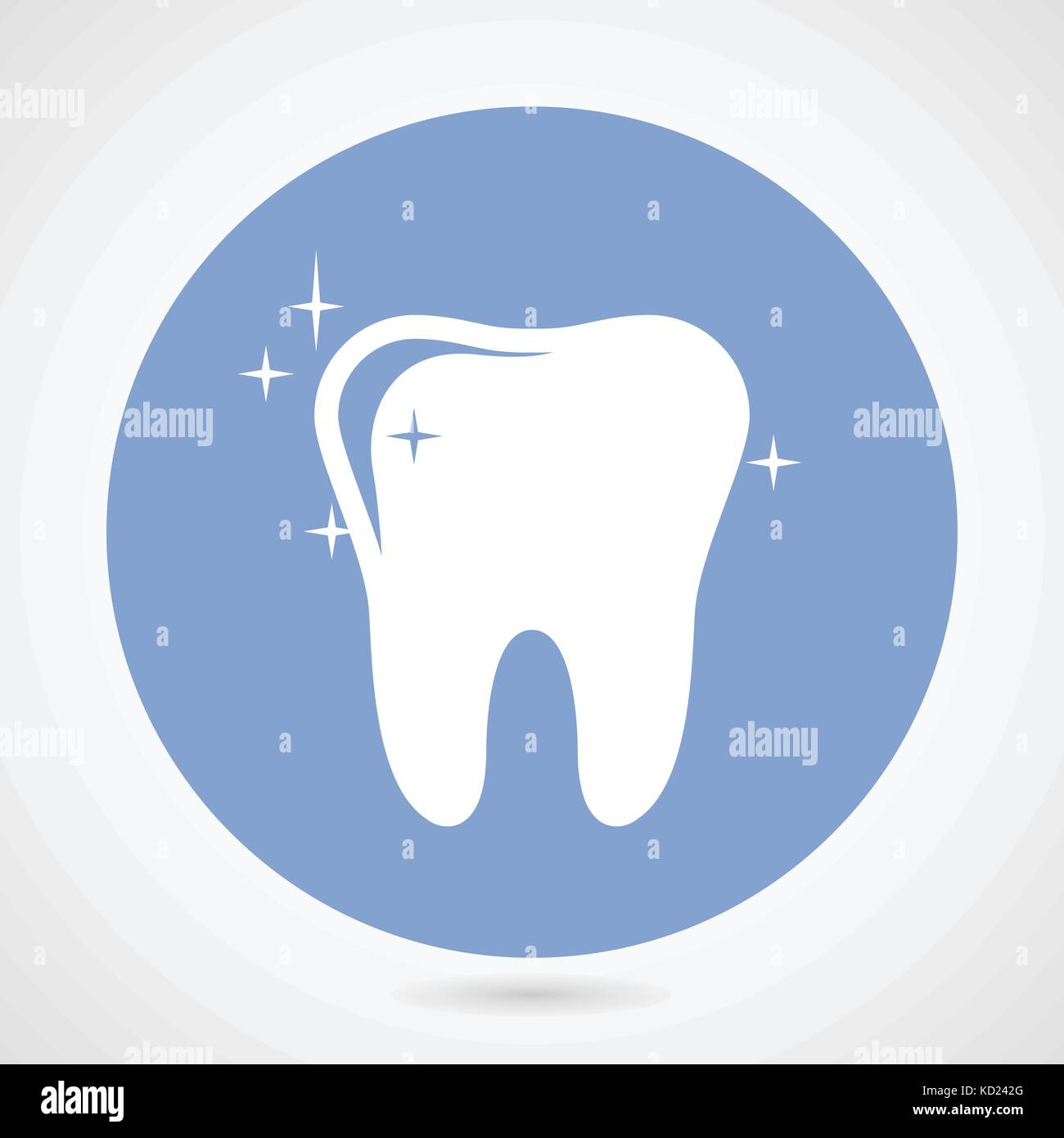 sparkling tooth icon dentistry