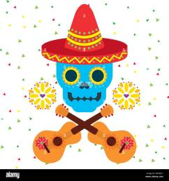 day of the dead skull with floral ornament stock vector [ 1300 x 1377 Pixel ]