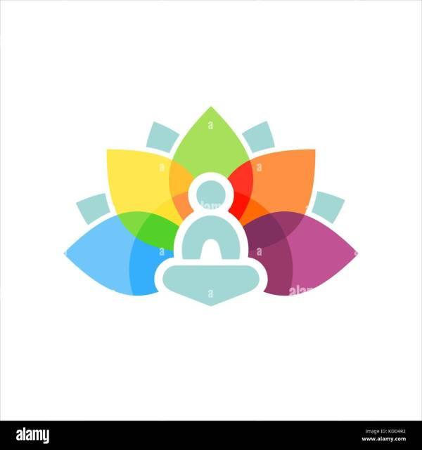 Yoga Logo Stock & - Alamy