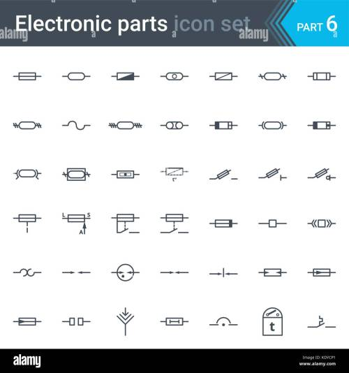 small resolution of complete vector set of electric and electronic circuit diagram stock circuit diagram fuse symbol
