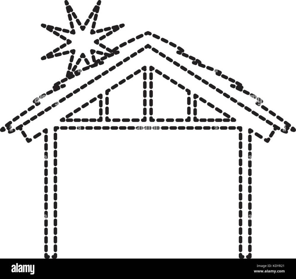 medium resolution of wooden hut house manger design image stock image