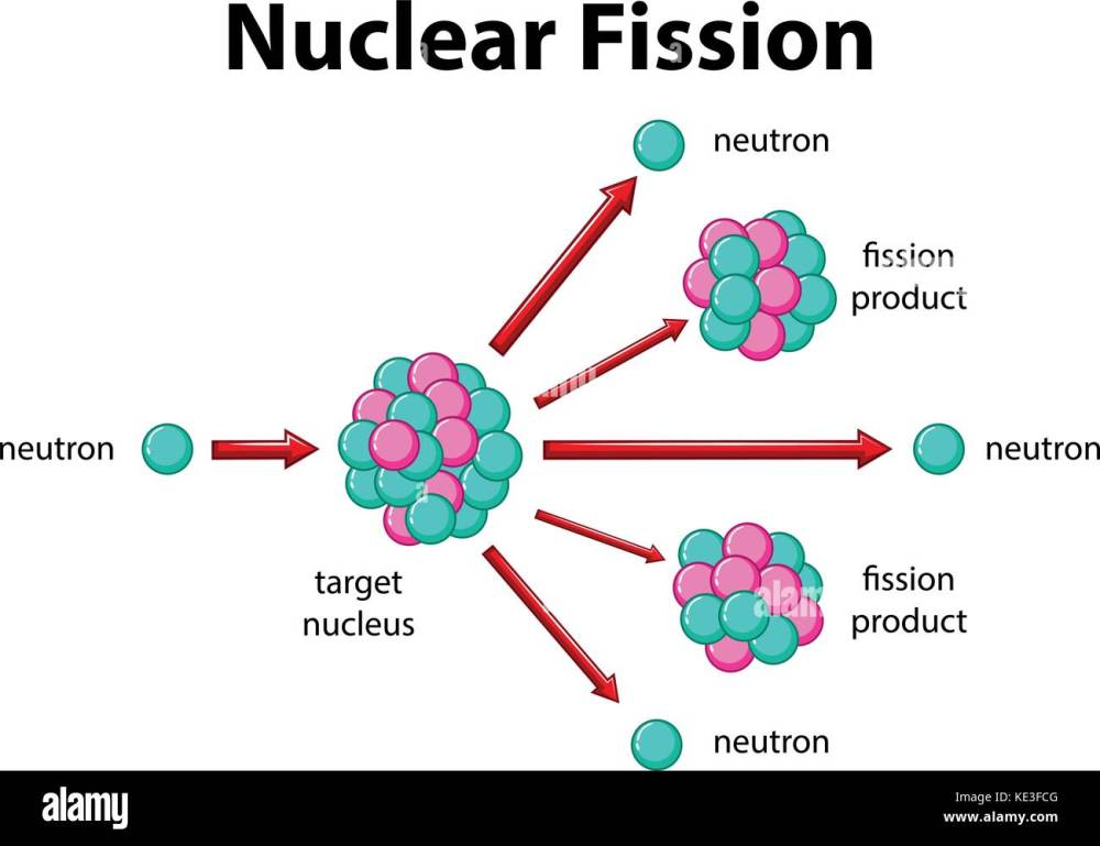 medium resolution of diagram showing nuclear fission illustration