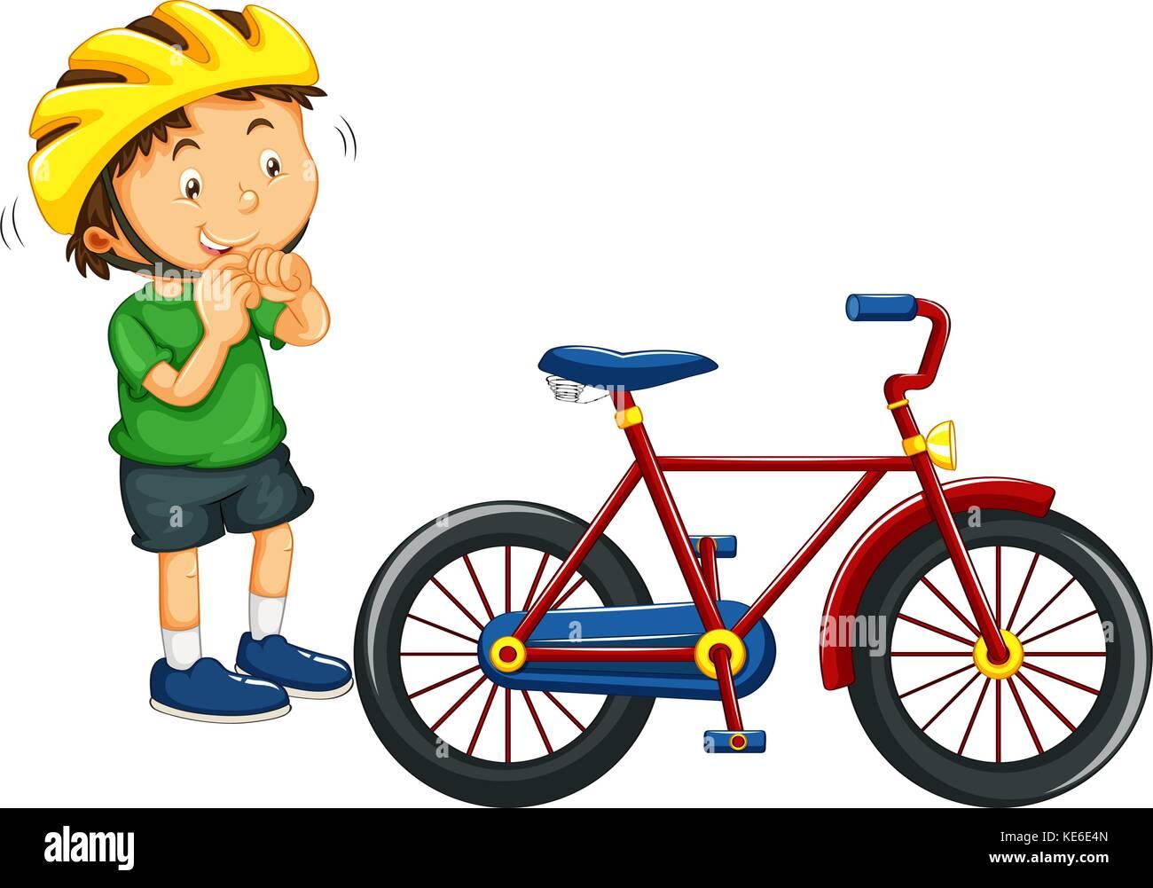 cartoon image kid riding