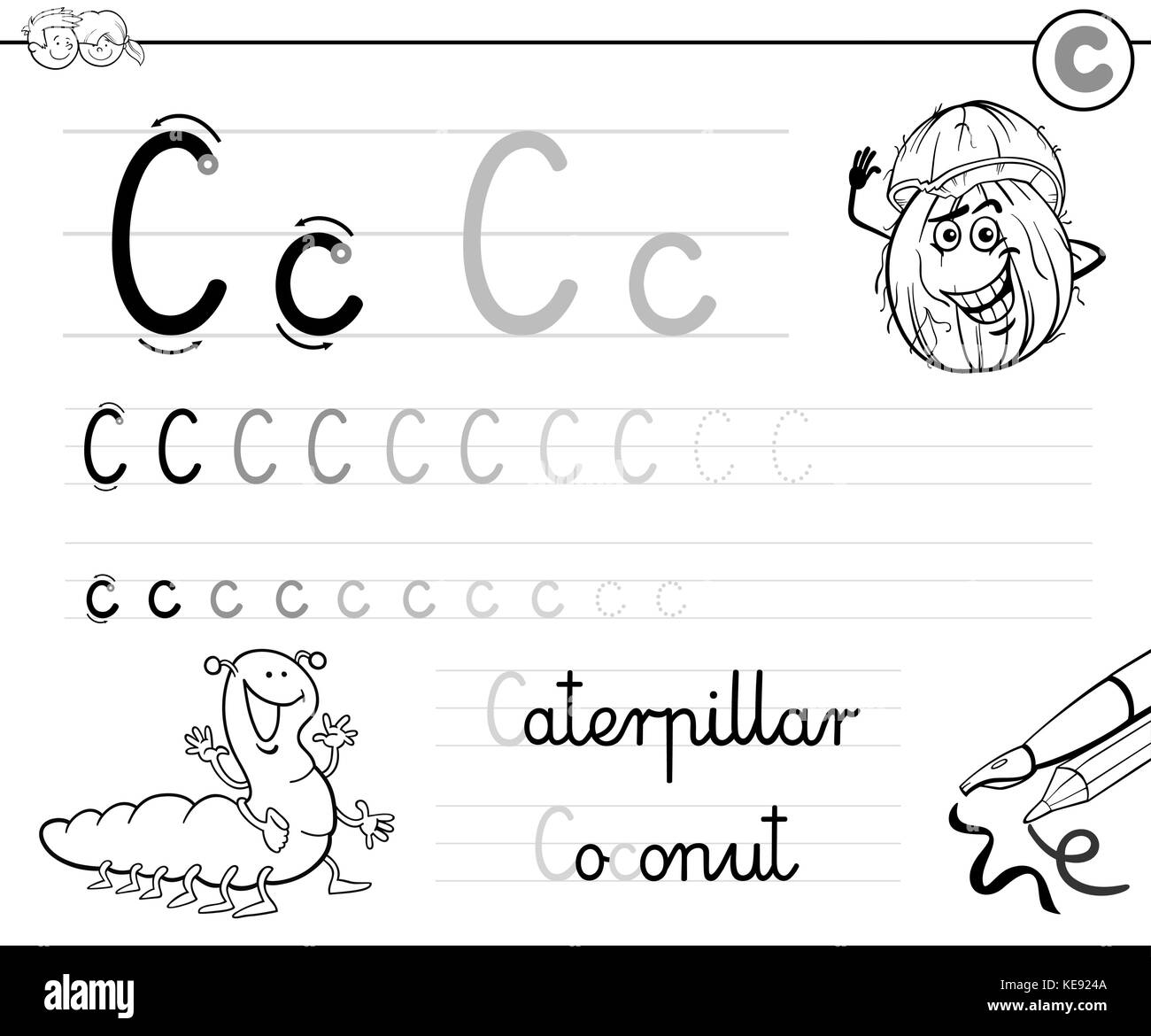 Coloring Alphabet For Kids Stock Photos Amp Coloring