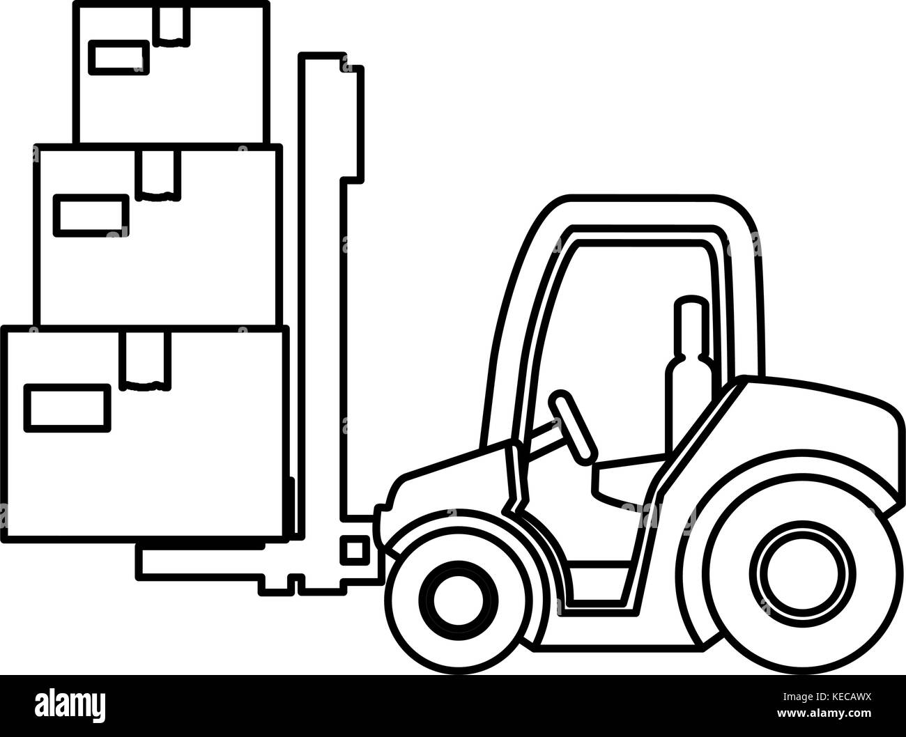 Cart Forklift With Boxes Stock Vector Art Amp Illustration