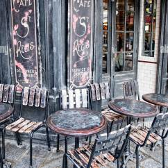 Parisian Cafe Chairs Mens Valet Chair Australia Bistro Stock Photos Vintage And Tables Of An Outdoors In Paris Image