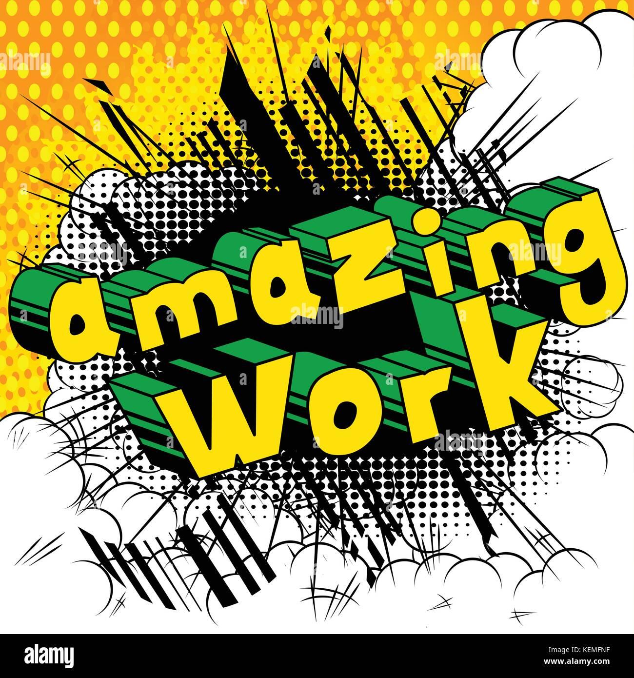 amazing work comic book