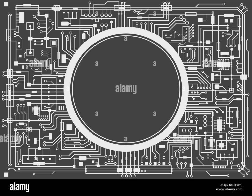 medium resolution of computer circuit board stock image