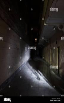 Prison Corridor British Stock &