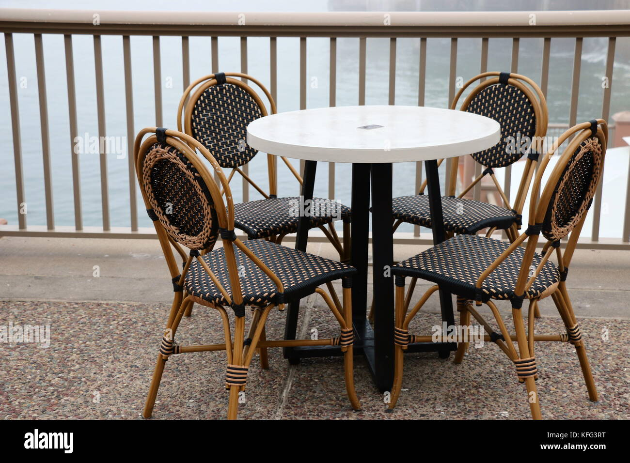 Outdoor French Bistro Chairs Cafe Table And Chairs French Bistro Style Stock Photo 164467404