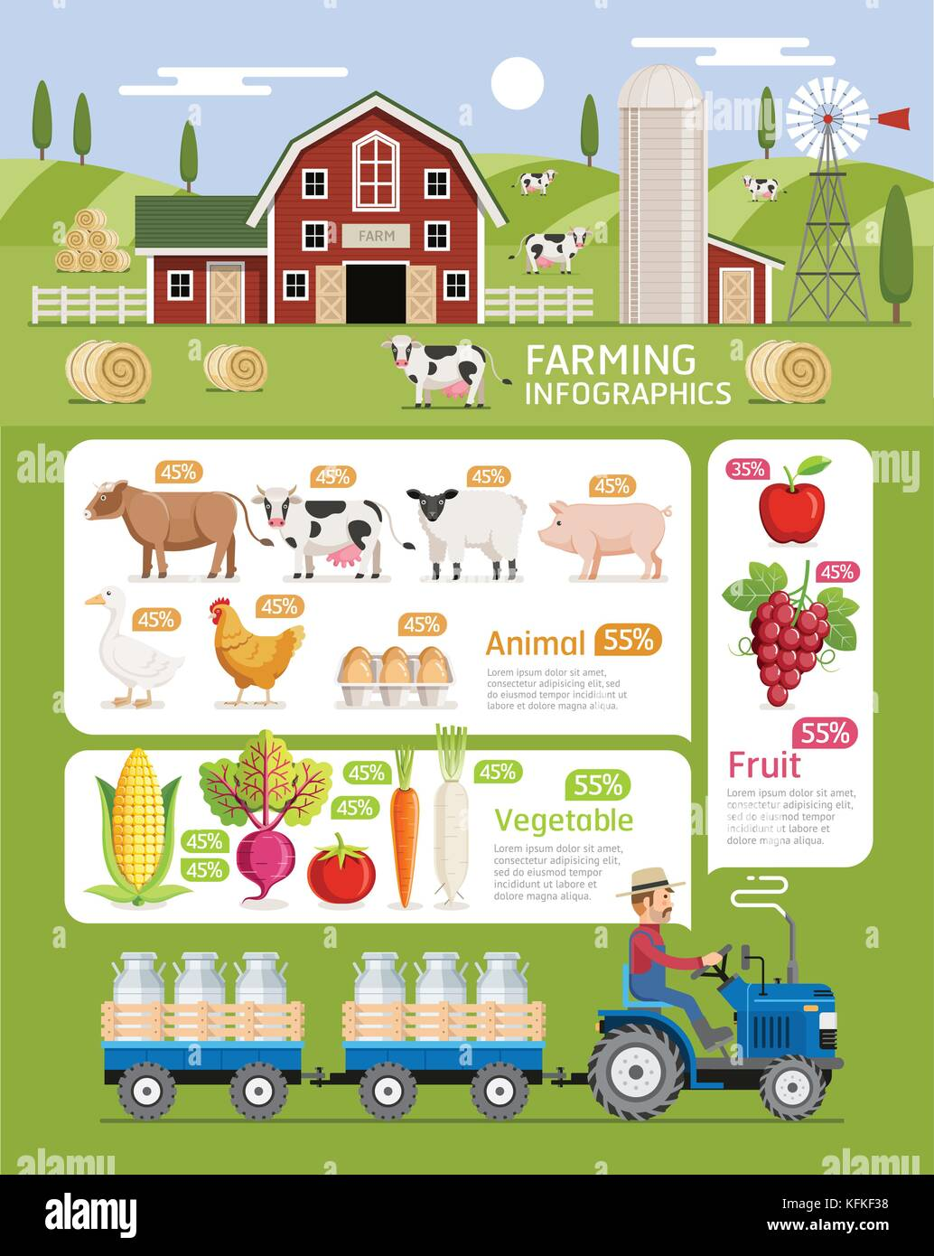 hight resolution of farming infographic elements template vector illustration can be used for workflow layout banner diagram web designs