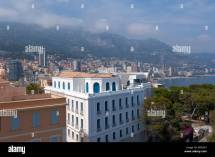 View Of Monte Carlo Bay Monaco Aquarium Stock