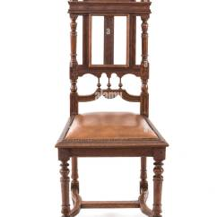 Antique Wood Chair Divani Chateau D Ax Leather Carved Wooden Carving Stock Photos On The White Background Image