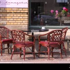 Coffee Shop Chairs Desk Chair Leather Wood Exterior Stock Photos And