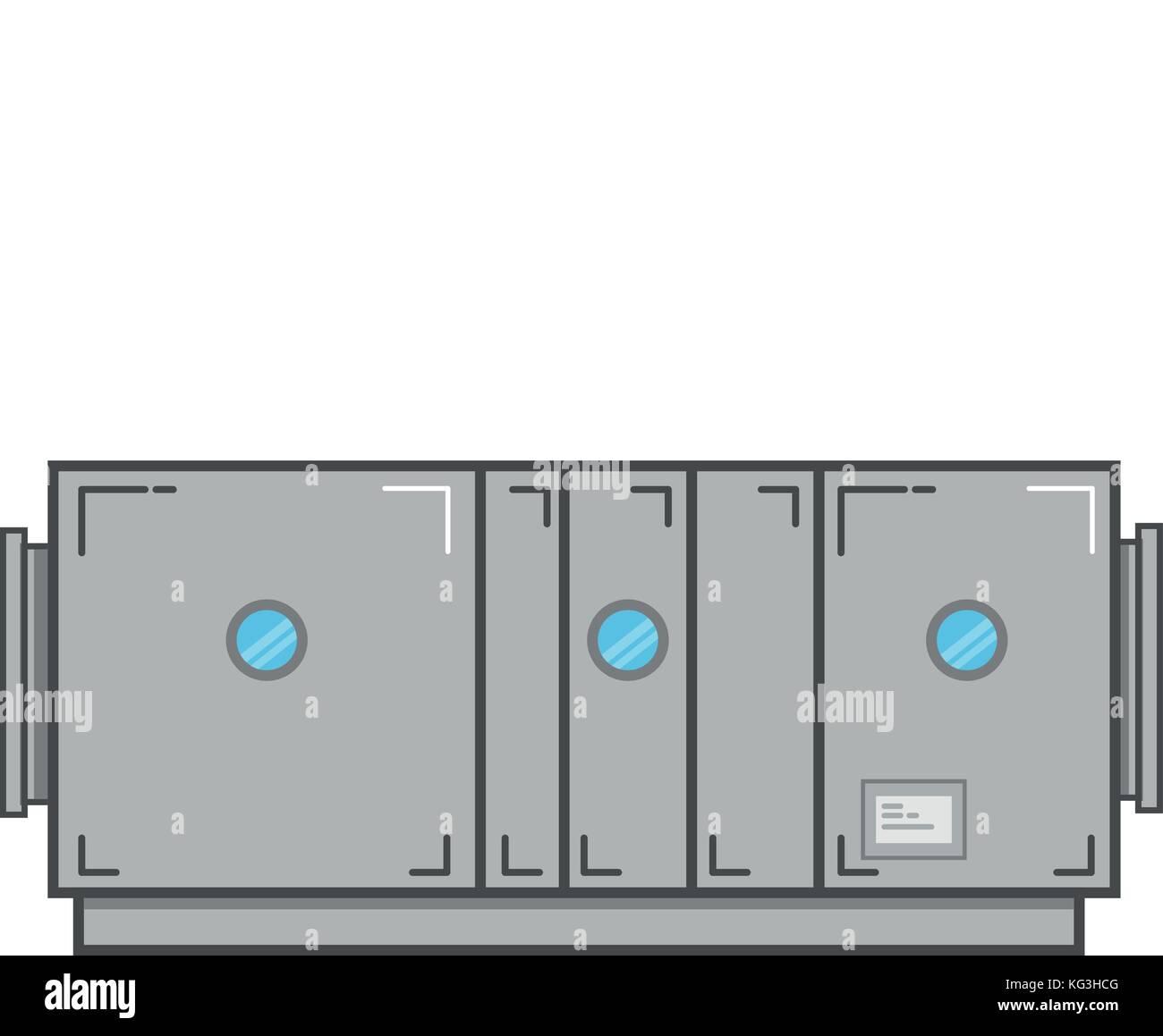 hight resolution of air handling unit vector