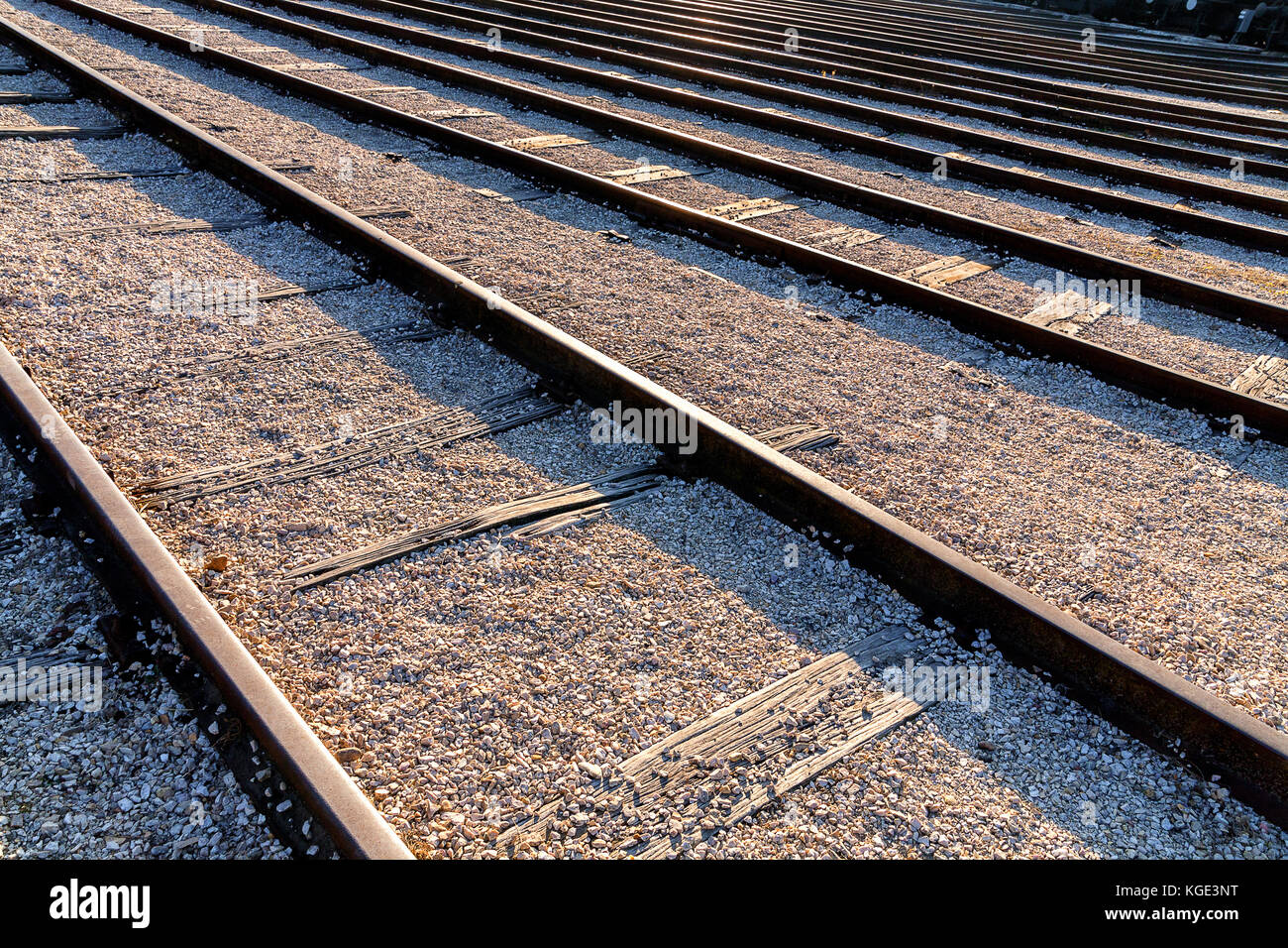 Train Track Perspective Stock Photos Amp Train Track
