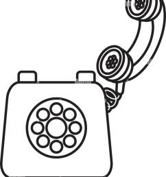 old telephone isolated [ 1112 x 1390 Pixel ]