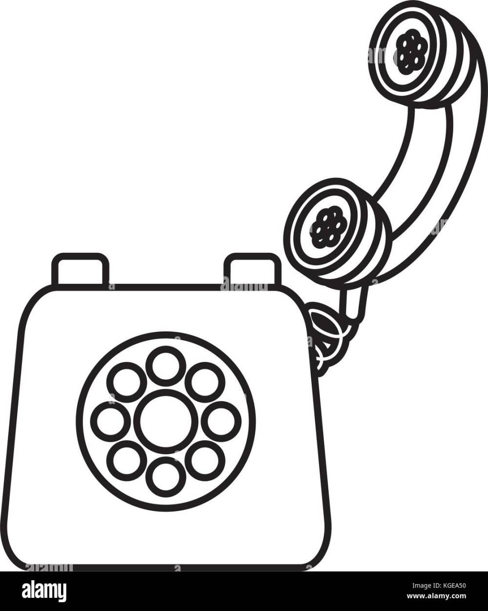 medium resolution of old telephone isolated