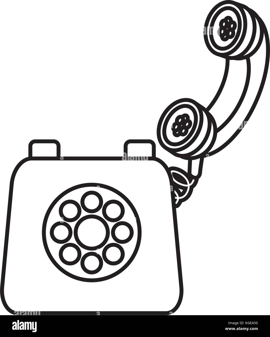 hight resolution of old telephone isolated