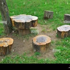 Tree Stump Chairs Target Red Chair Stock Photos And