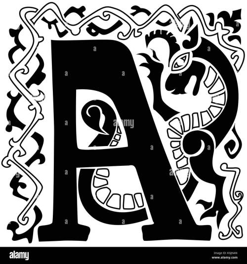 small resolution of gargoyle capital letter a stock image