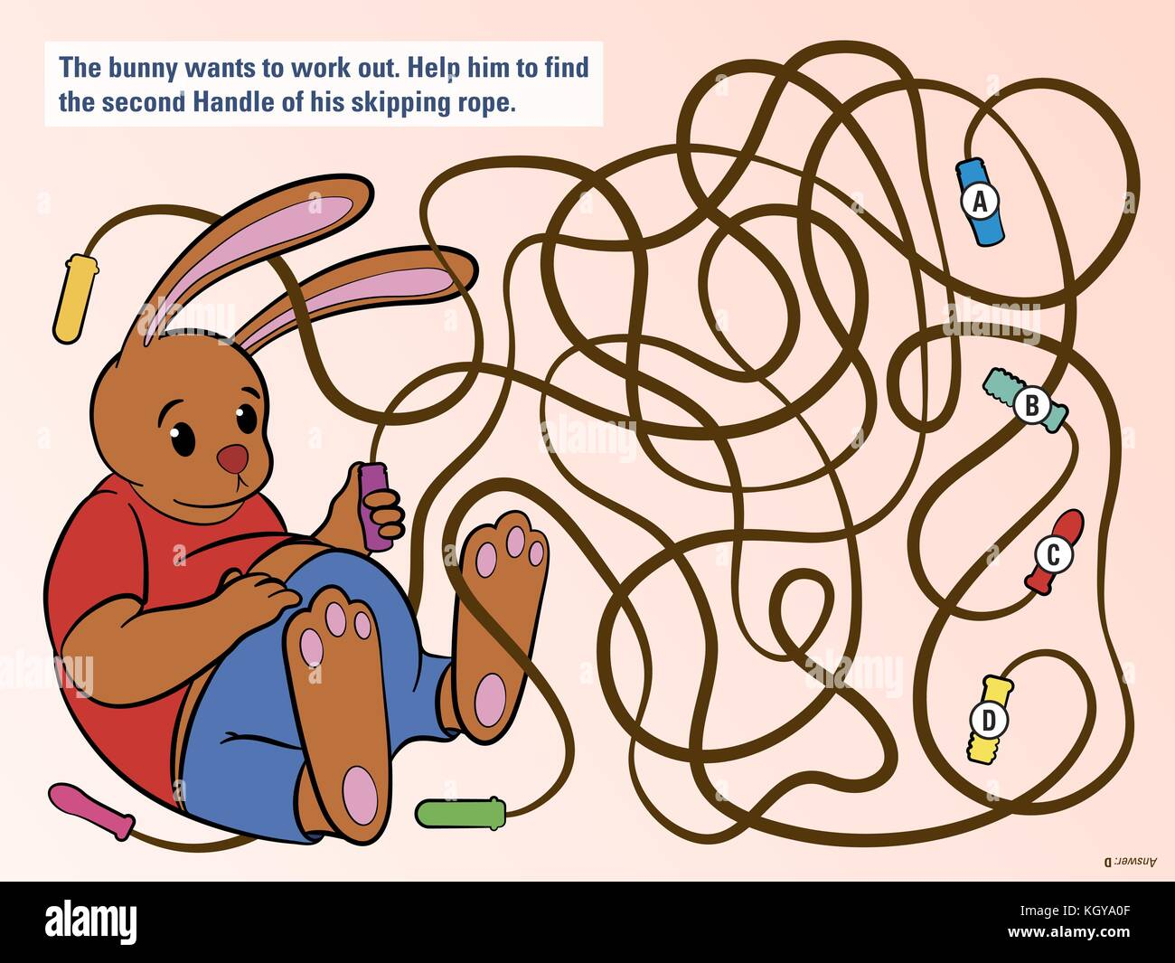 Cartoon Illustration Education Maze Labyrinth Stock Photos