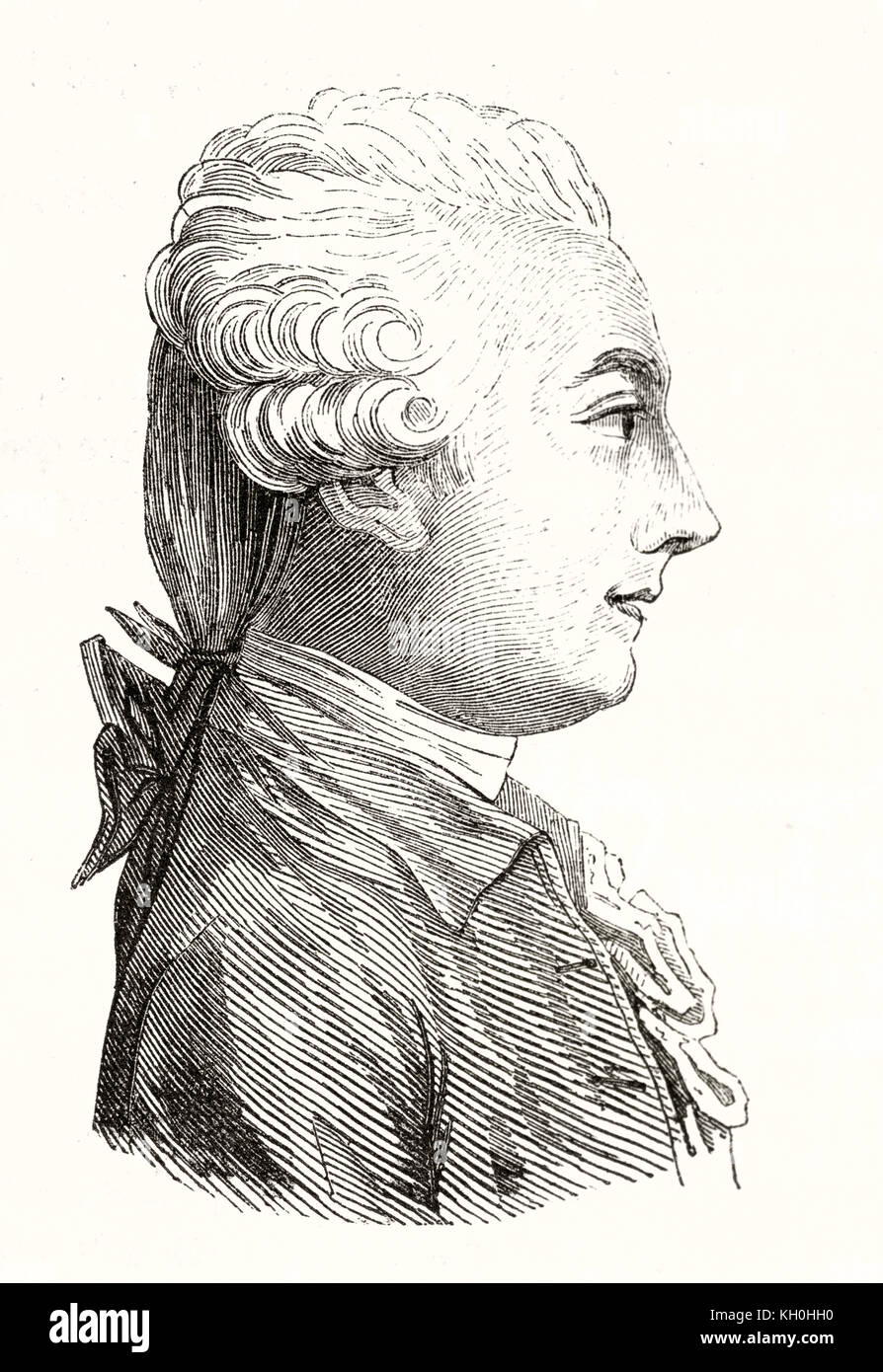 Old Engraved Portrait Of Louis Claude De Saint-Martin (1743 – 1803 Stock  Photo - Alamy