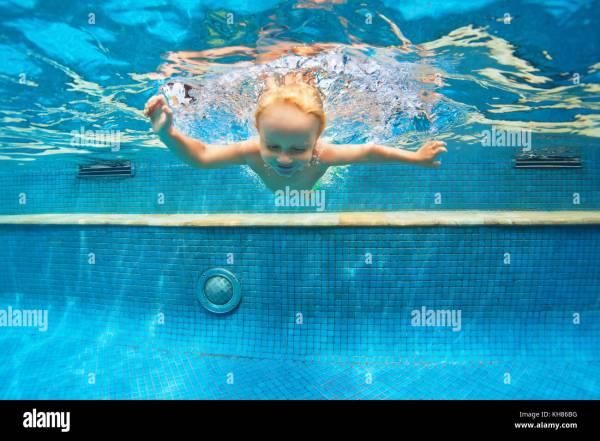 Funny Swimming Pool Underwater