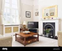 Interiors Livingroom Fireplace Traditional Stock Photos ...