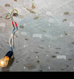 bad wiring leading to the bulb stock image [ 1300 x 956 Pixel ]