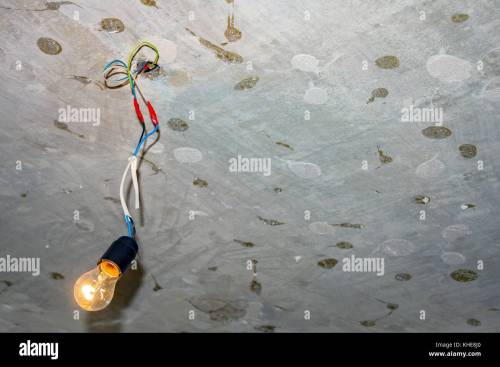 small resolution of bad wiring leading to the bulb stock image