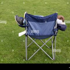 Child Camping Chair Revolving Ipp Bank A Small Hidden In Stock Photo 165746817 Alamy