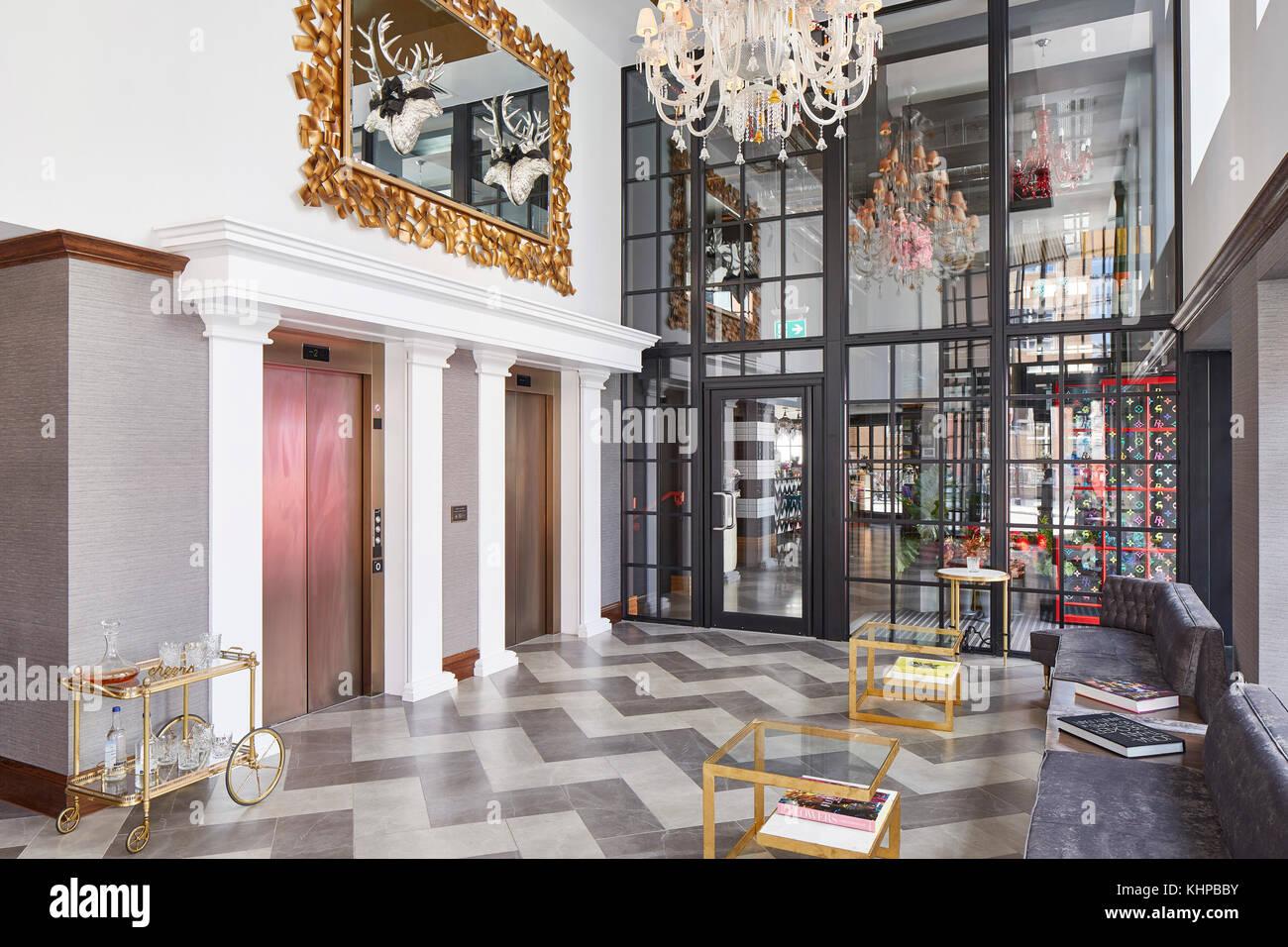 https www alamy com stock image interior of lobby the curtain hotel london united kingdom architect 165834367 html