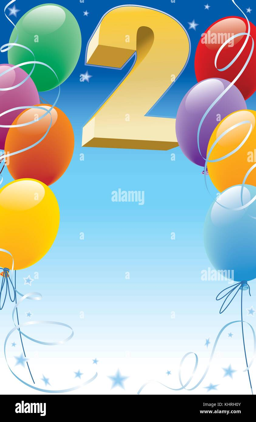 https www alamy com stock image background with design elements the poster or invitation for 2nd birthday 165860715 html