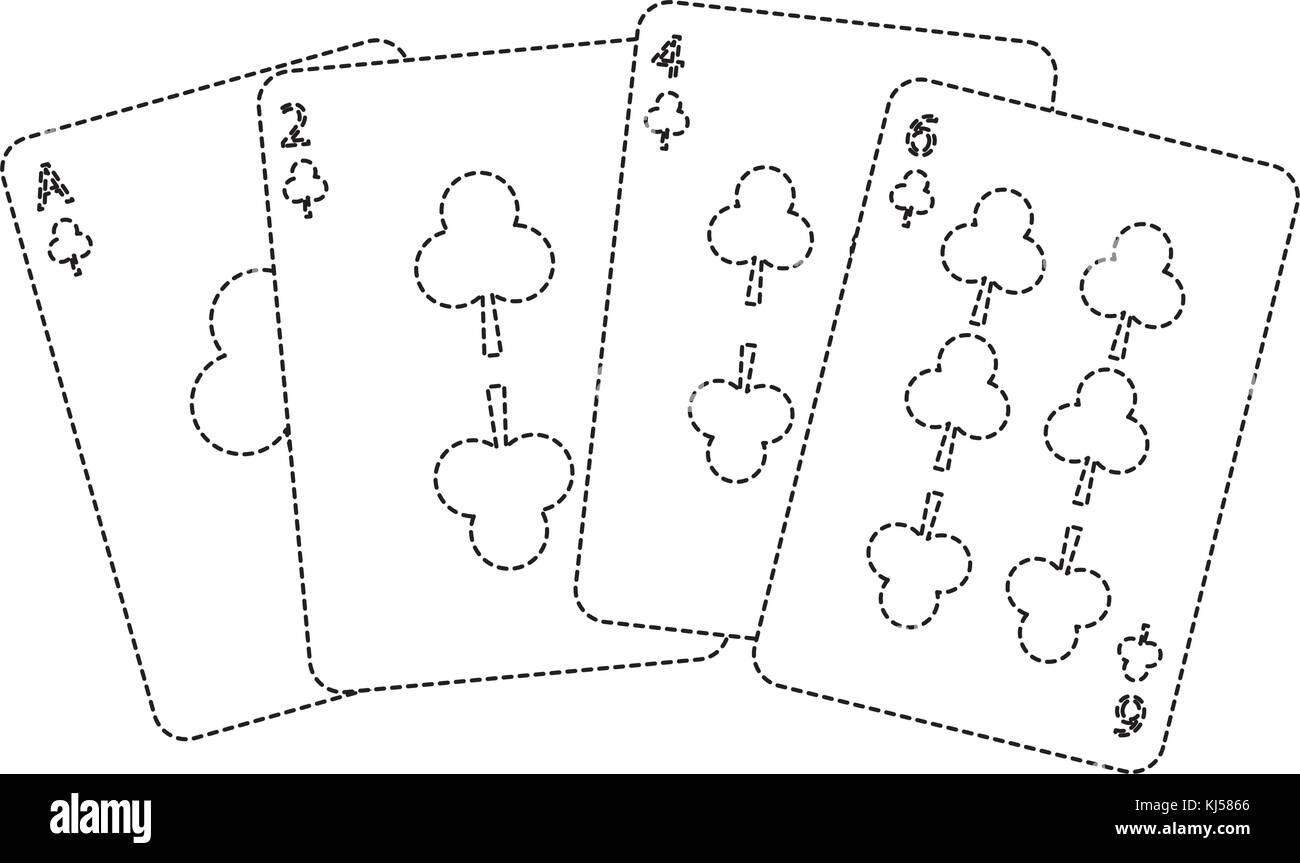 hight resolution of clover or clubs suit french playing cards icon image stock image