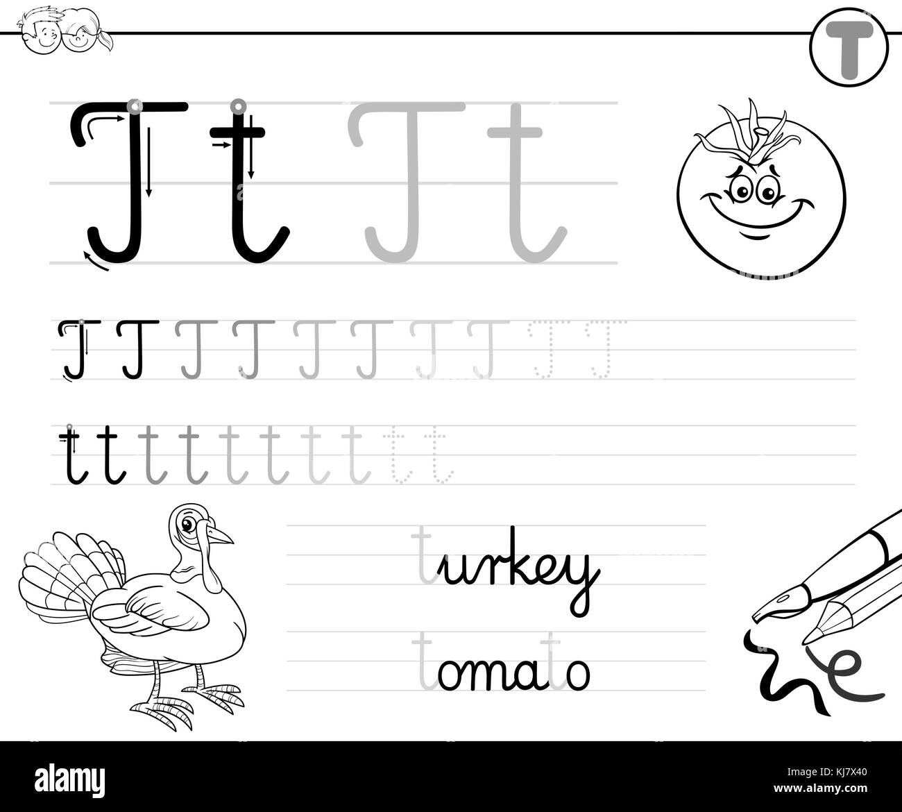 Coloring Alphabet For Kids Stock Photos Amp Coloring Alphabet For Kids Stock Images