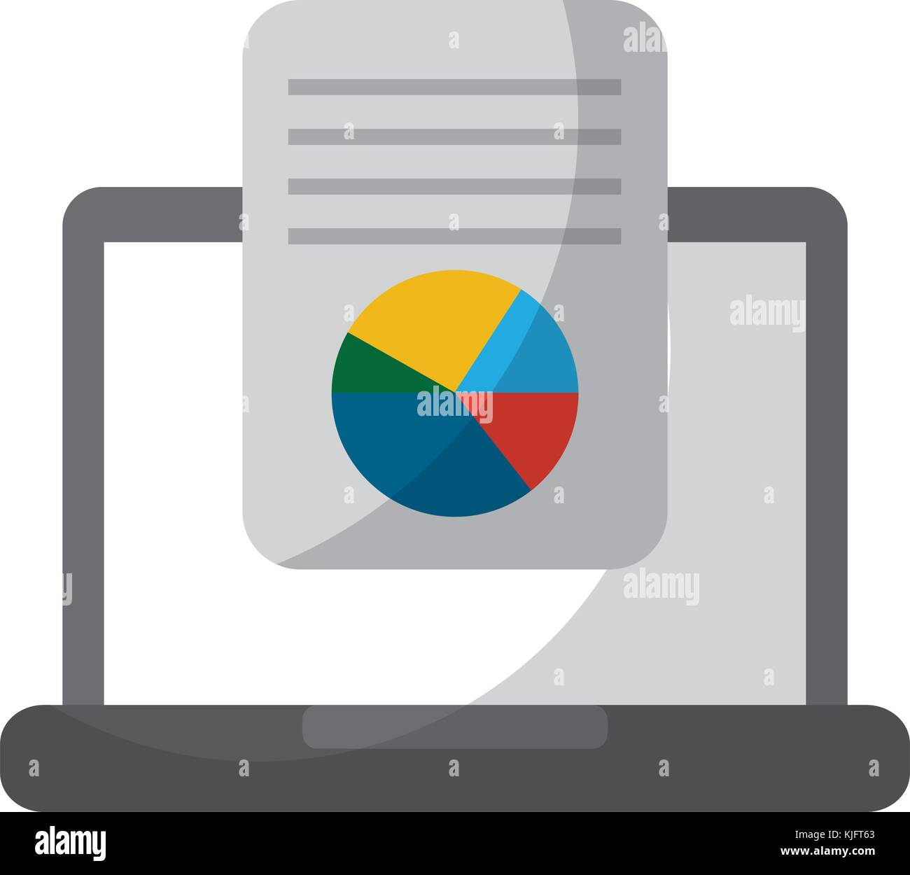 hight resolution of laptop computer screen document file graph diagram
