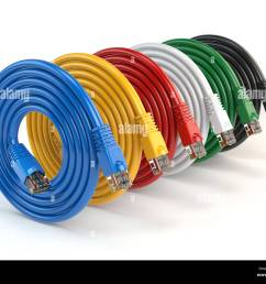 set of colorful of lan network connection ethernet cables internet cords rj45 isolated on white background 3d illustration [ 1300 x 1065 Pixel ]