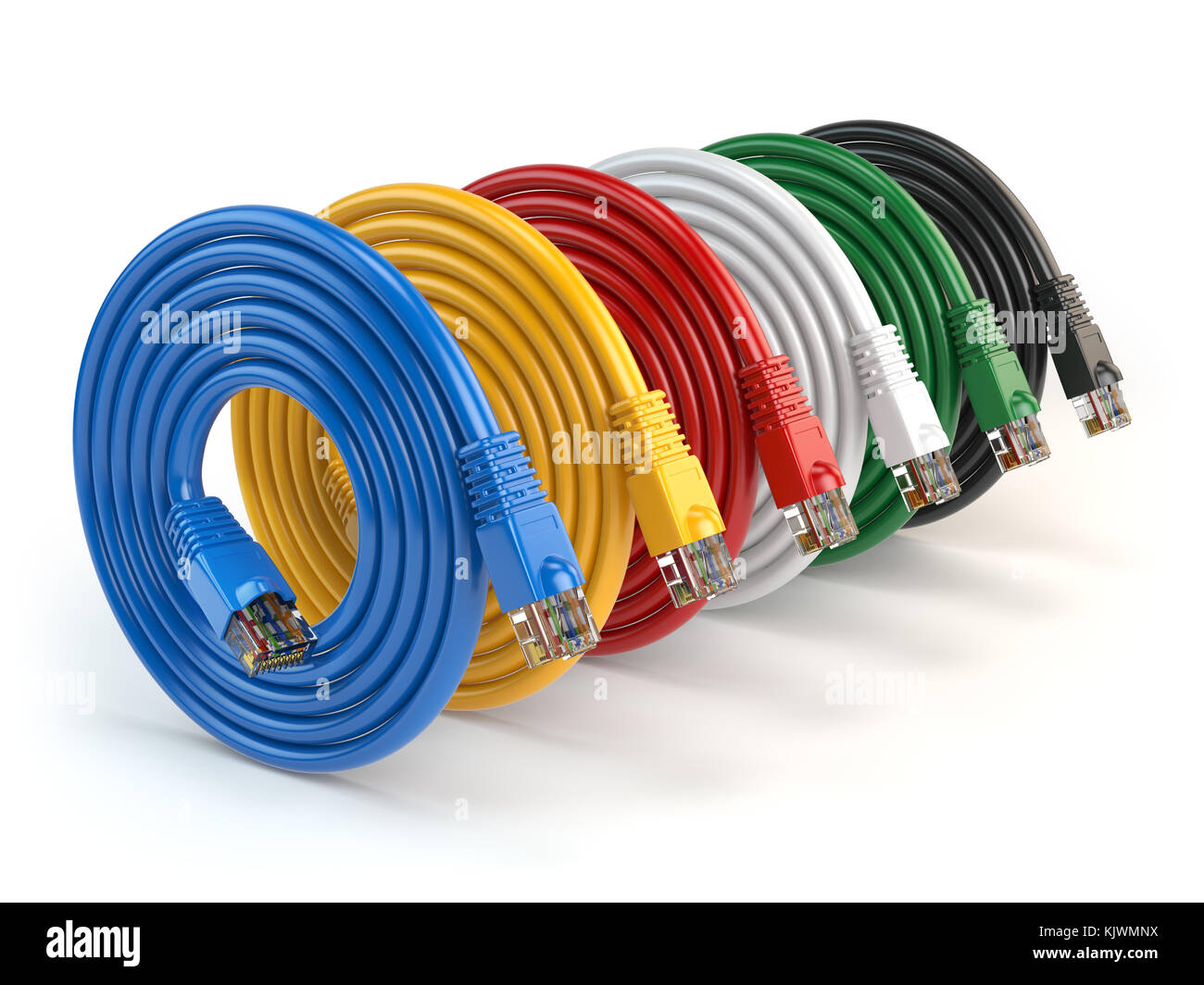 hight resolution of set of colorful of lan network connection ethernet cables internet cords rj45 isolated on white background 3d illustration