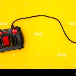 Desk Chair Leans Forward Wholesale Spandex Covers Electronic Game Controller Stock Photos & Images - Alamy