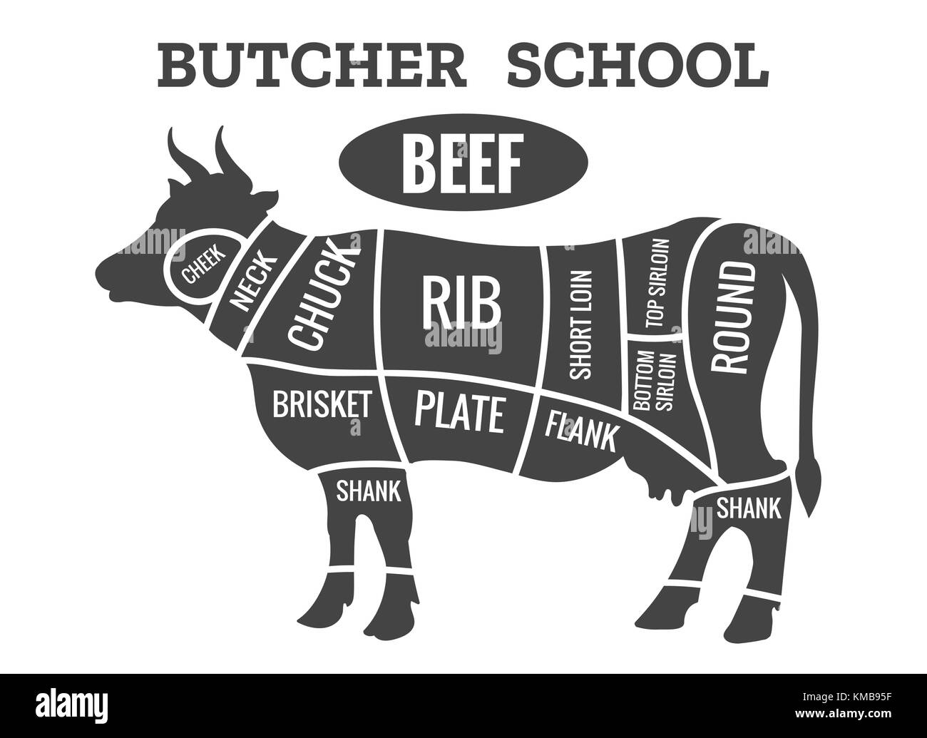 Cuts Of Beef Diagram Stock Photos Amp Cuts Of Beef Diagram