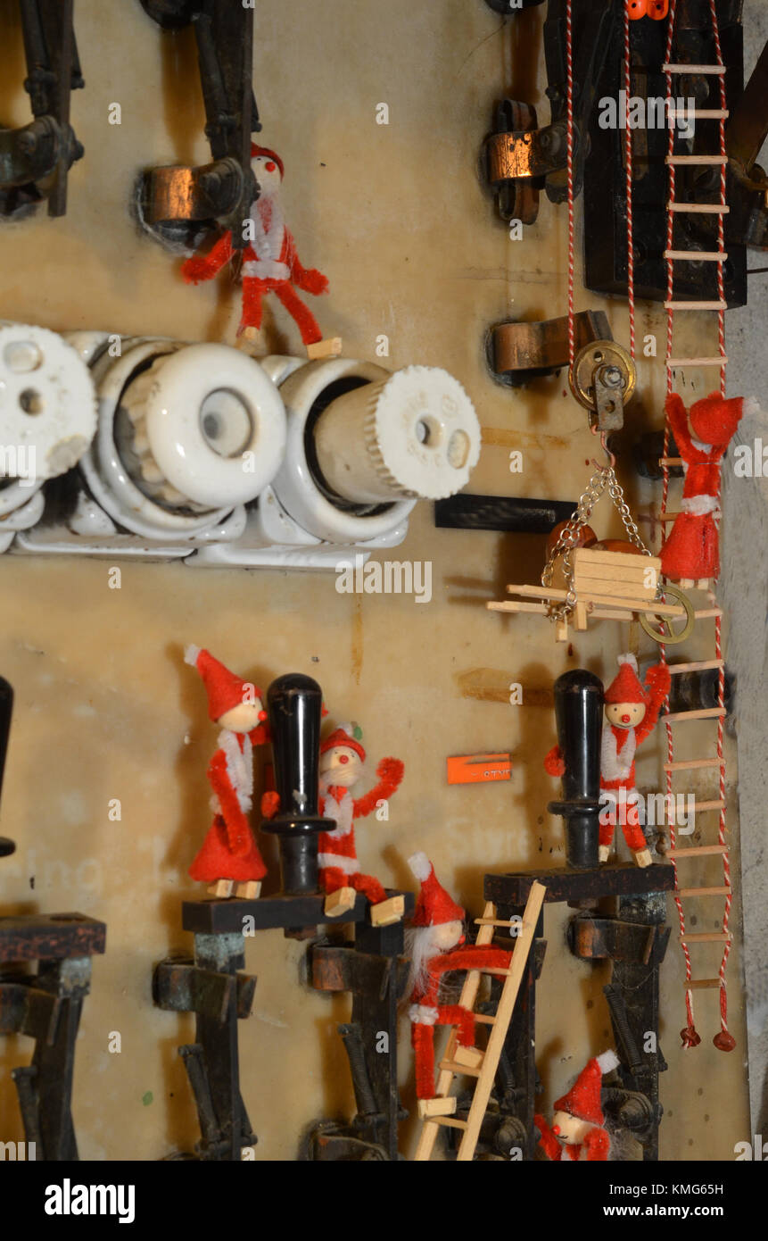 medium resolution of pizies vbusy on an old fuse board stock image