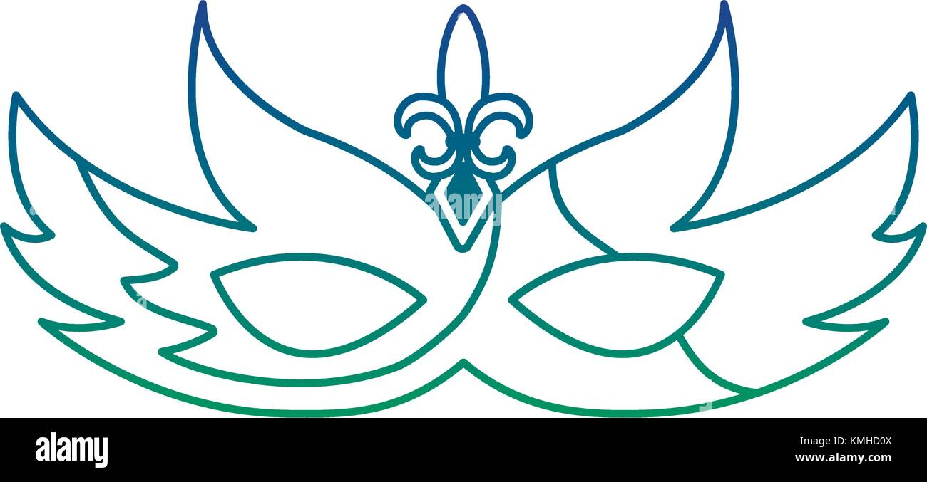 hight resolution of mardi gras glitter mask with fleur de lis carnaval