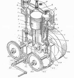 t head single cylinder otto engine army service corps training mechanical transport [ 1035 x 1390 Pixel ]