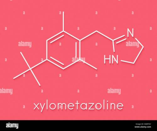 small resolution of xylometazoline nasal decongestant molecule often used in nose spray and nose drops skeletal formula