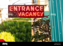 Vacancy Sign Stock & - Alamy