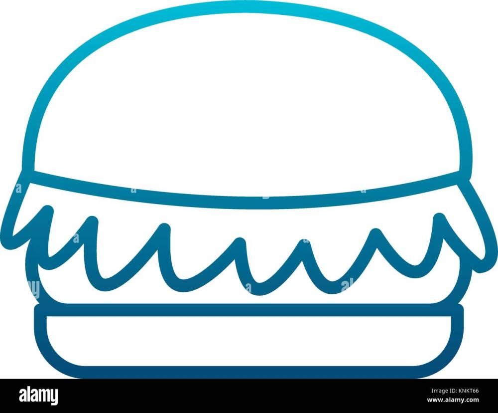 medium resolution of hamburger fast food stock vector