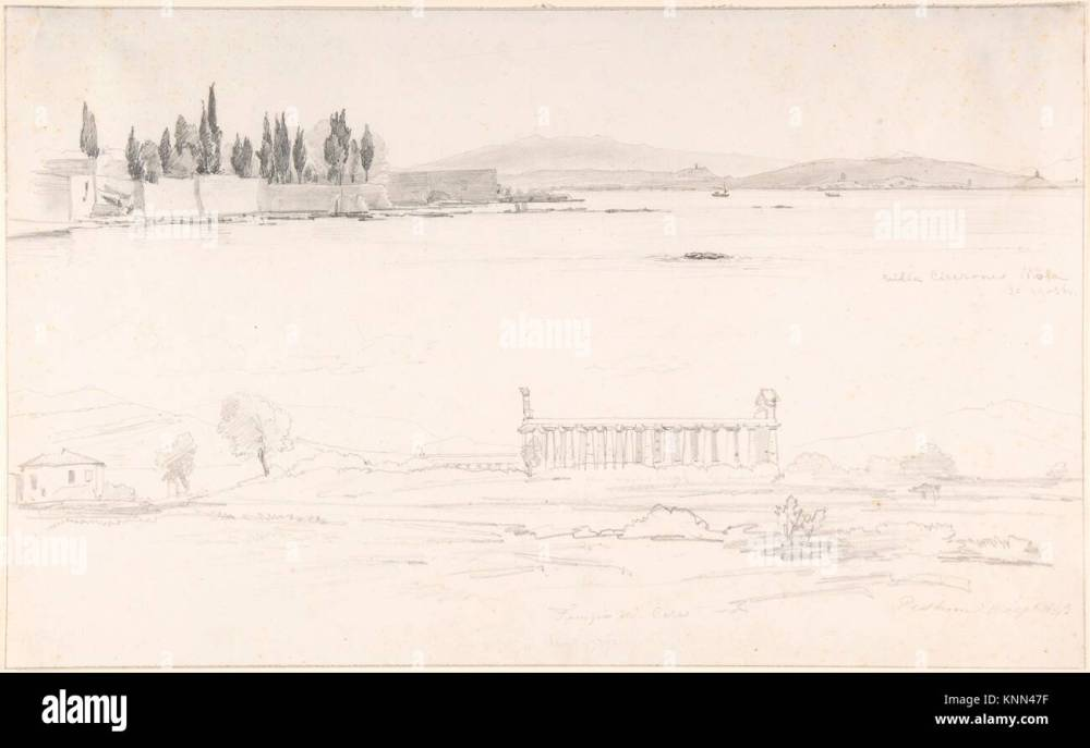 medium resolution of studies of the villa cicerone at the lago lucrino near naples and of the temple at